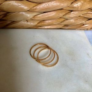 Jewelry - GOLD STACKABLE RINGS